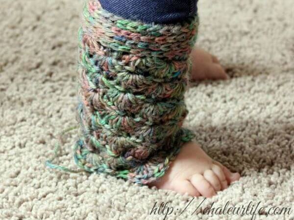 Simple Shells Toddler Legwarmers
