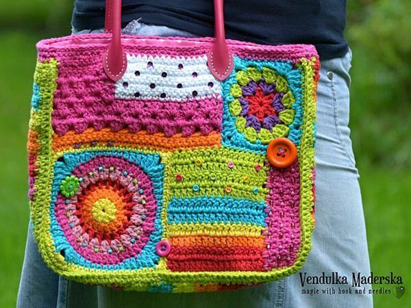 Crazy rainbow bag