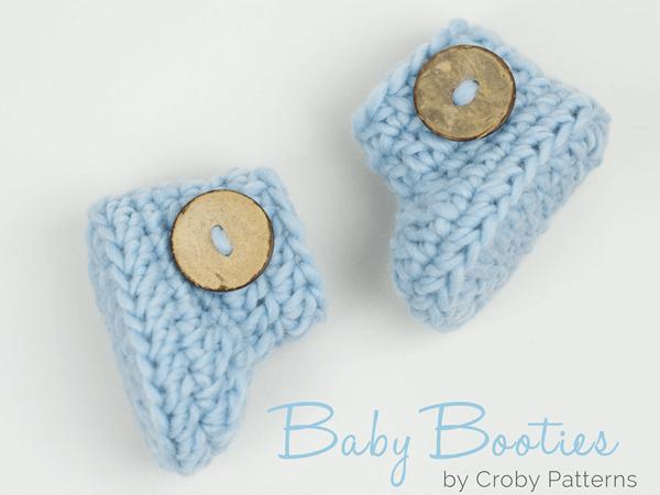Crochet baby booties in 15 minutes