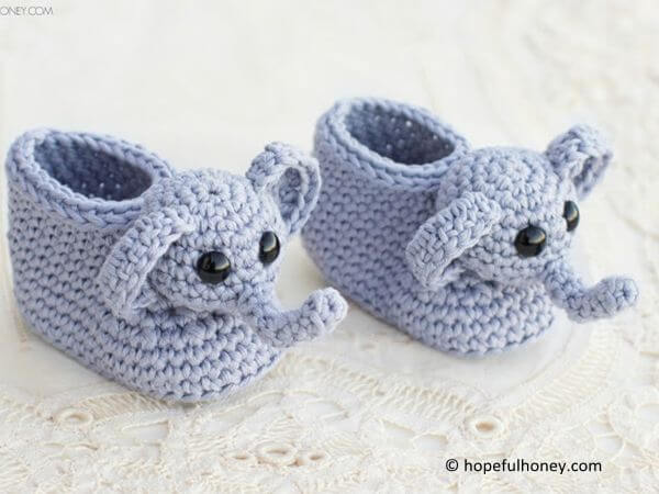 Ellie The Elephant Baby Booties