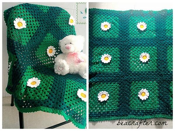 Wild Daisies Baby Blanket