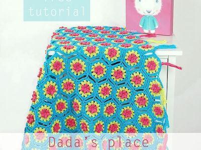 Free Crochet Flowery Hexagon Tutorial