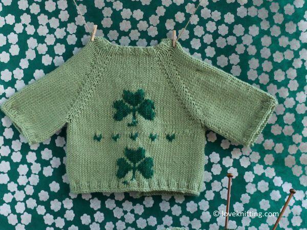 shamrock baby cardigan
