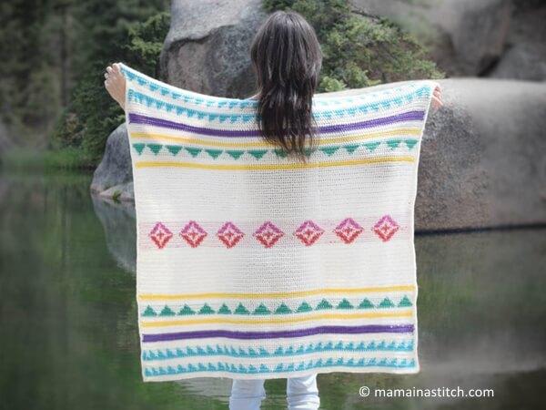 Tapestry Crochet Blanket