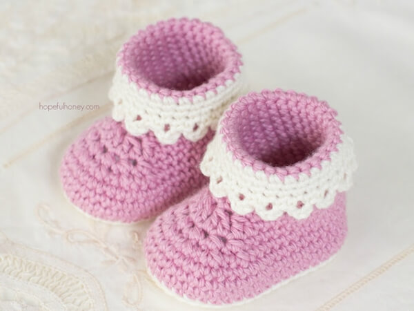 Pink Lady Baby Booties