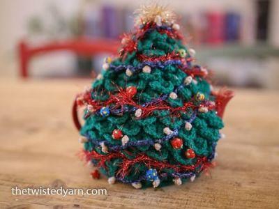 Christmas Crochet Teapot