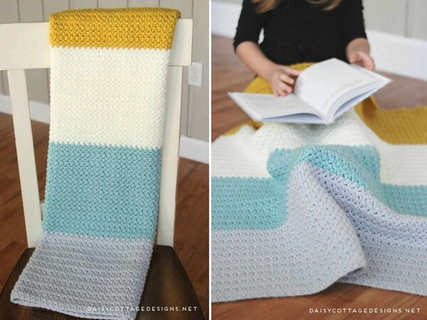 Color Block Blanket Crochet Pattern