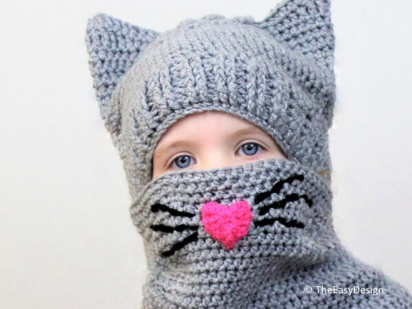 Corey CAT set Hat and Cowl