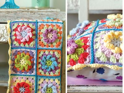Pretty Vintage Crochet Granny Square