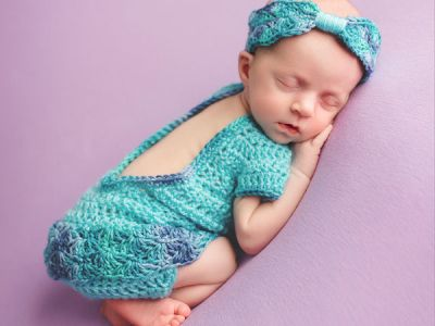 Crochet Newborn Baby Girl Outfit with Romper