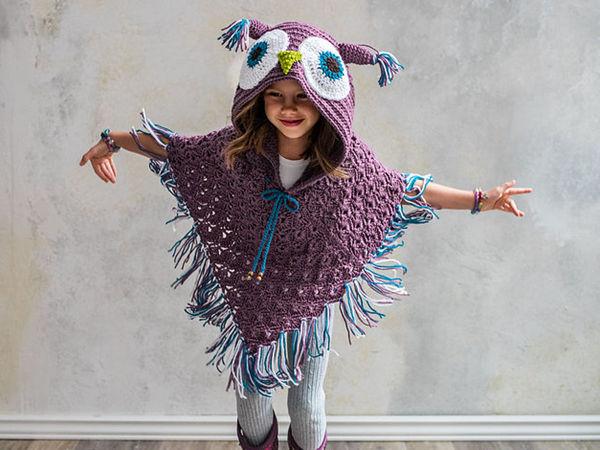 Hooded Owl Poncho