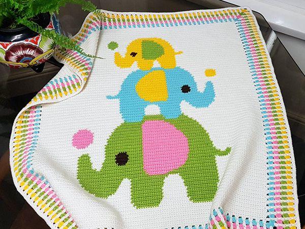 Crochet Elephant Blanket