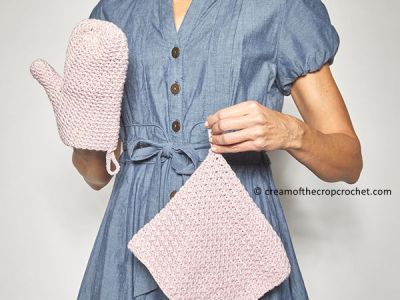 Oven Mitt Set Crochet Pattern