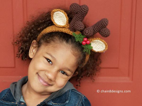 Festive Reindeer Headband