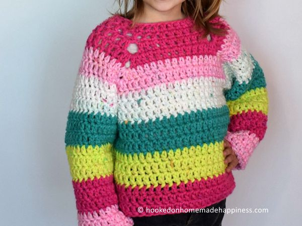 Kid's Chunky Raglan Sweater