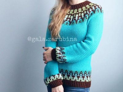 Crochet Pullover for Women Rebecca