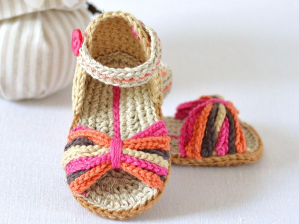 Ethnic Style Baby Sandals