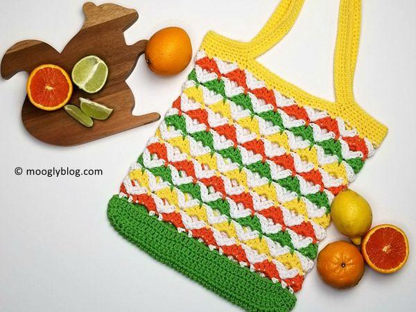 Citrus Twist Tote crochet free pattern