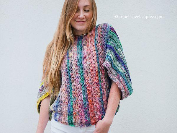 crochet Bifrost Top free pattern