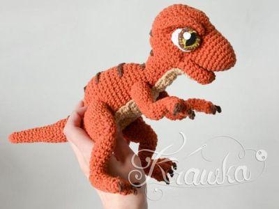 crochet Baby Raptor Dinosaur pattern