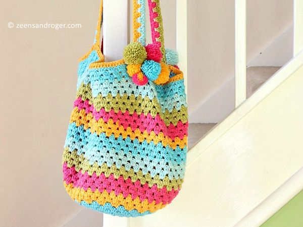 crochet Beach Bag free pattern
