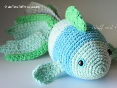 crochet Finn the Fish free pattern