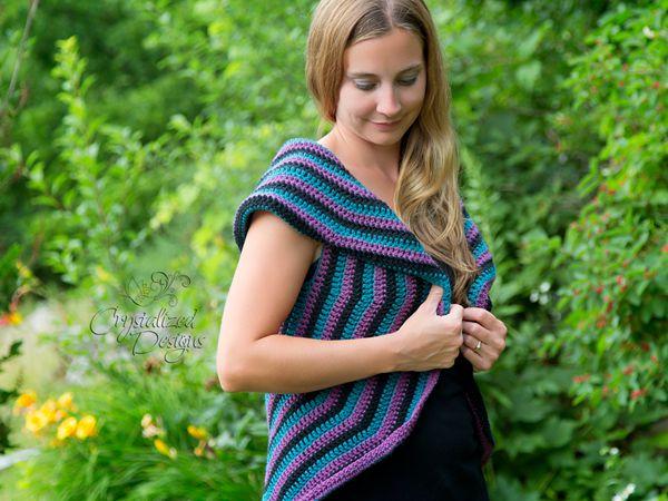 crochet Lollipop Vest Adult free pattern