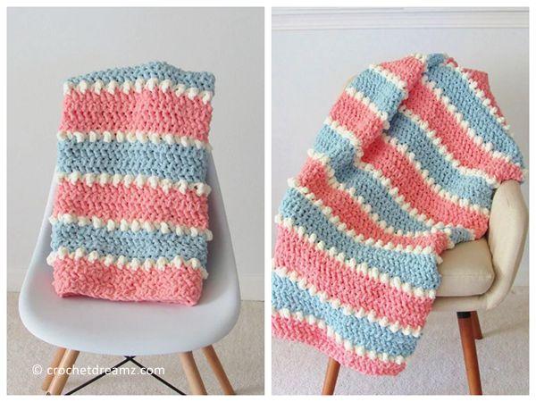 Easy Crochet Baby Blanket free pattern