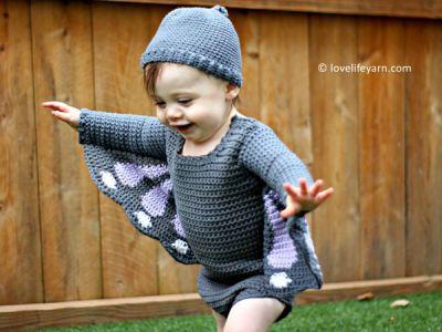 crochet Baby Butterfly Costume free pattern
