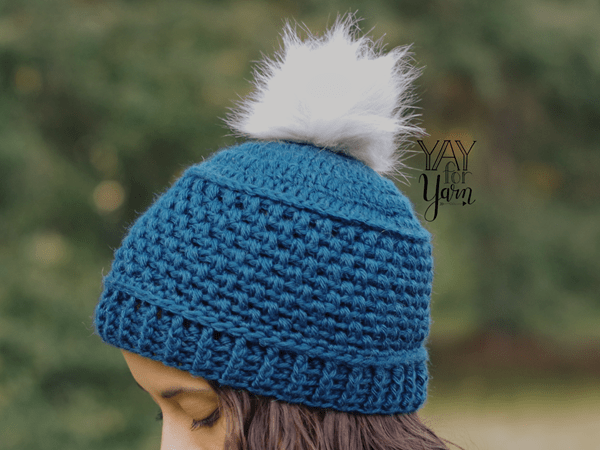 crochet Puff Stitch Hat free pattern