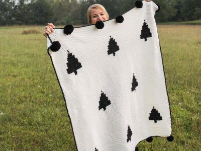 Crochet Modern Woodland Blanket