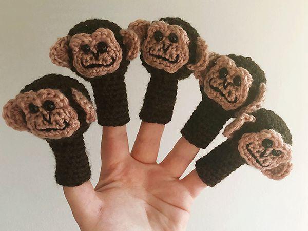 crochet Little Monkey Finger Puppet free pattern