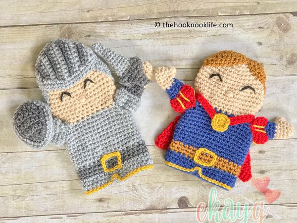 crochet Princely Knight Hand Puppet free pattern