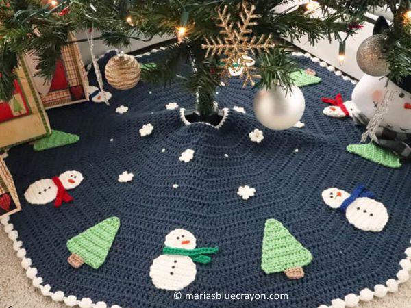 CHRISTMAS TREE SKIRT CROCHET ALONG free pattern