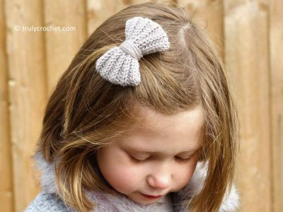 Crochet Hair Bow free pattern