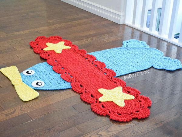 crochet The Airplane Rug easy pattern