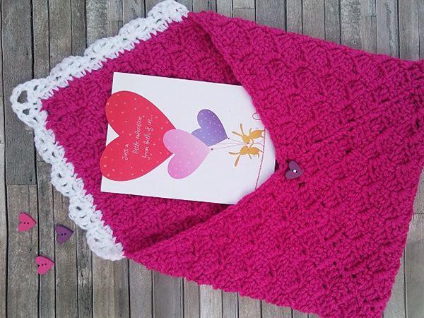 CROCHET C2C Valentines Envelope FREE PATTERN