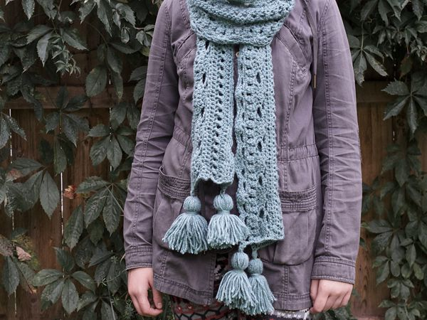 CROCHET Marked With An X Scarf free pattern