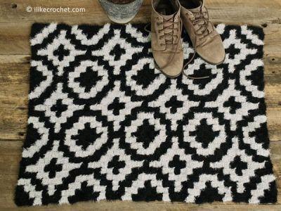 crochet Kaja C2C Rug free pattern