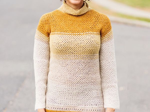 crochet Montevideo Pullover Top free pattern
