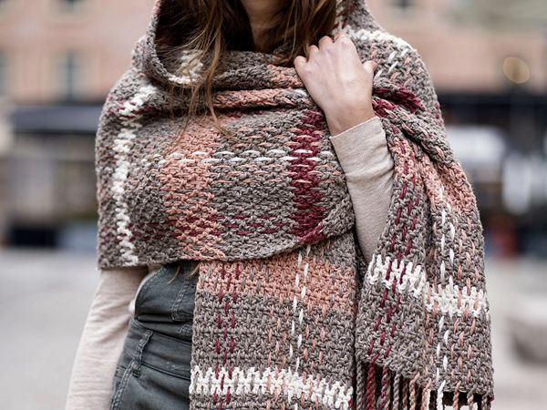 Rosebridge Plaid Blanket Scarf