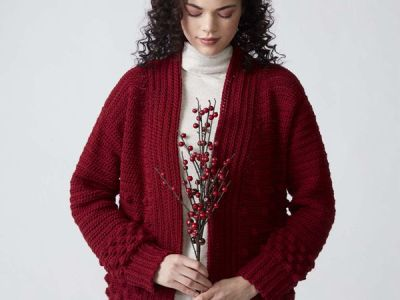 crochet WINTER BERRIES CARDIGAN free pattern