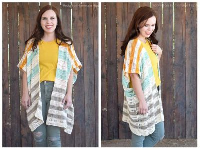 crochet Bahama Mama Ruana Cardigan easy pattern