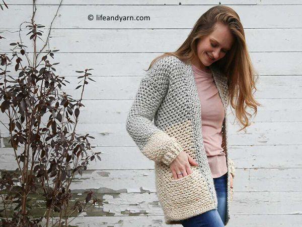 crochet Cardigan with Pockets free pattern