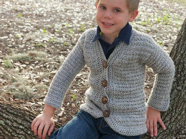 crochet Little Dude Cardigan easy pattern