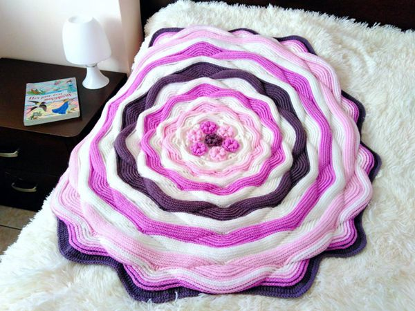 crochet Sweet Baby Girl Afghan easy pattern