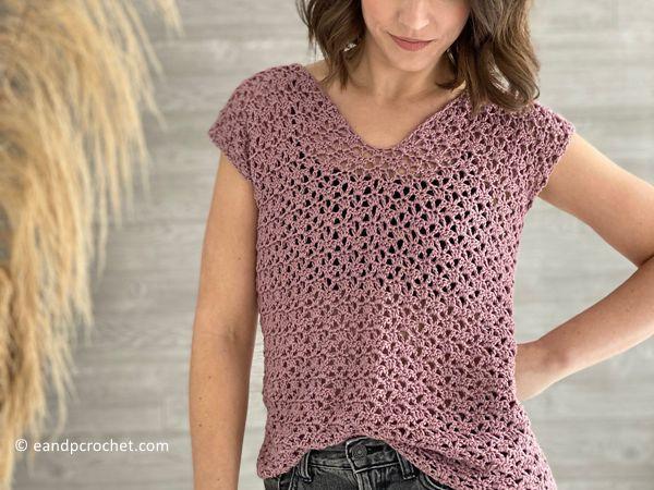 crochet The Sweetpea Top free pattern