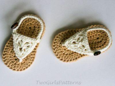 crochet Boho Sandals easy pattern