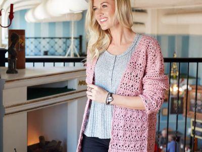 crochet OPEN FRONT COMFY CARDIGAN free pattern
