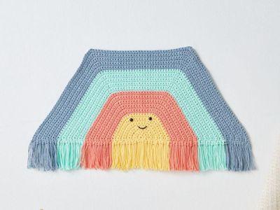 crochet RAINBOW TUNNEL WALL HANGING free pattern
